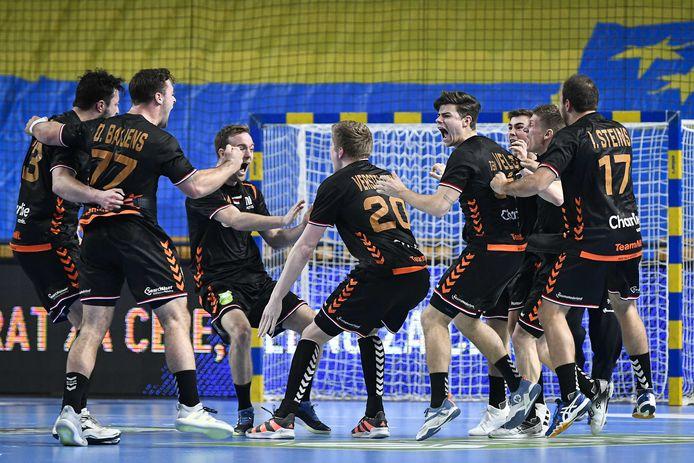 De Nederlandse handballers op archiefbeeld.