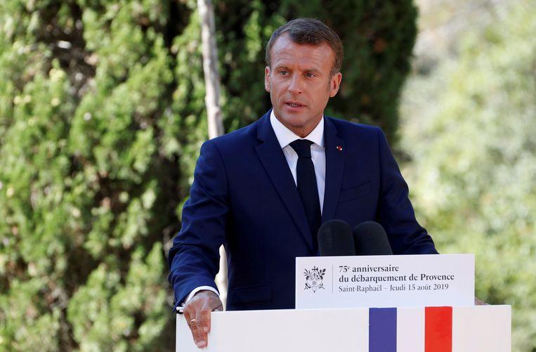De Franse president Emmanuel Macron.