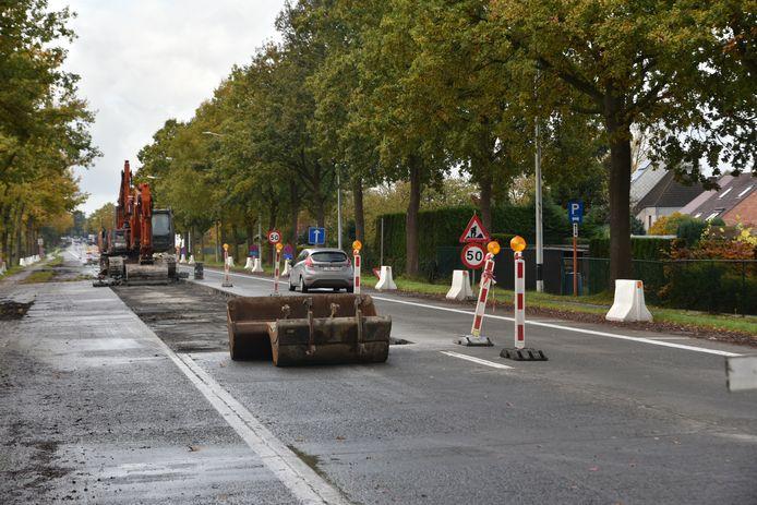 Tot eind november zijn er werken op de Zuidlaan in Wetteren.