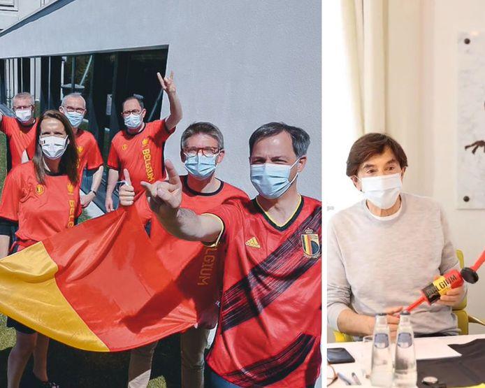 Les ministres ont revêtu les couleurs nationales en soutien aux Diables rouges.
