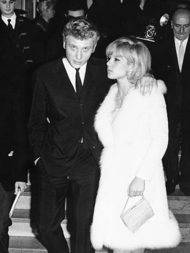 Johnny Hallyday en Sylvie Vartan. Beeld AP