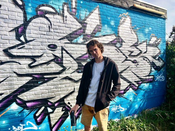 Alain Balleur, graffiti-artiest uit Vlissingen, vond de rust en kalmte die de 1,5-meter samenleving met zich meebracht heel aangenaam.