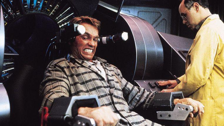 Arnold Schwarzenegger in Total Recall van Paul Verhoeven. Beeld