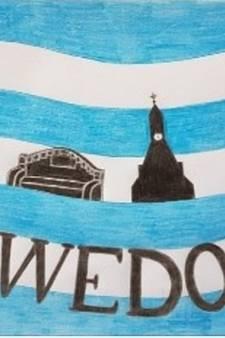 Lewedorp heeft een eigen dorpsvlag