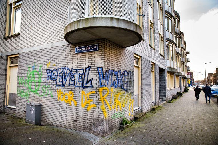 Woningcorporatie Vestia heeft veel woningen in de Tweebosbuurt in Rotterdam-Zuid, waar relatief veel mensen wonen met een laag inkomen. Beeld Arie Kievit