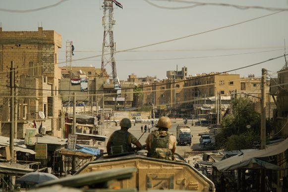Soldaten in de Syrische provincie Deir ez-Zor.