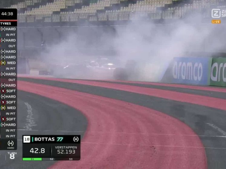 Vettel spint en in de muur in openingstraining