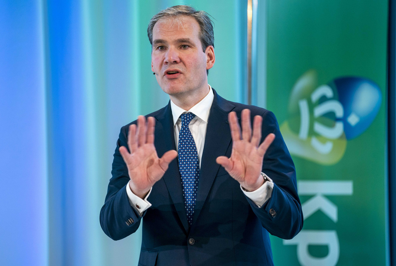 Joost Farwerck, topman van telecombedrijf KPN .