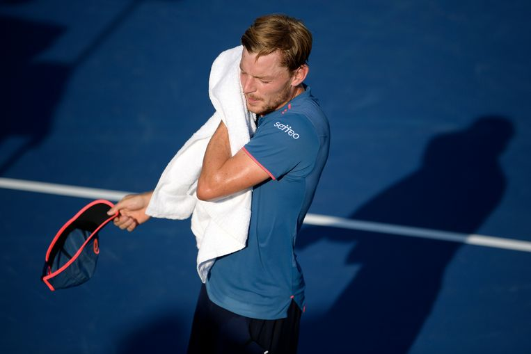 Belgian David Goffin pictured during a tennis match between Belgian David Goffin (ATP 10) and Italian Federico Gaio (ATP 242), in the first round of the men's singles at the 118th US Open Grand Slam tennis tournament, at Flushing Meadow, in New York City, USA, Tuesday 28 August 2018. BELGA PHOTO YORICK JANSENS Beeld BELGA
