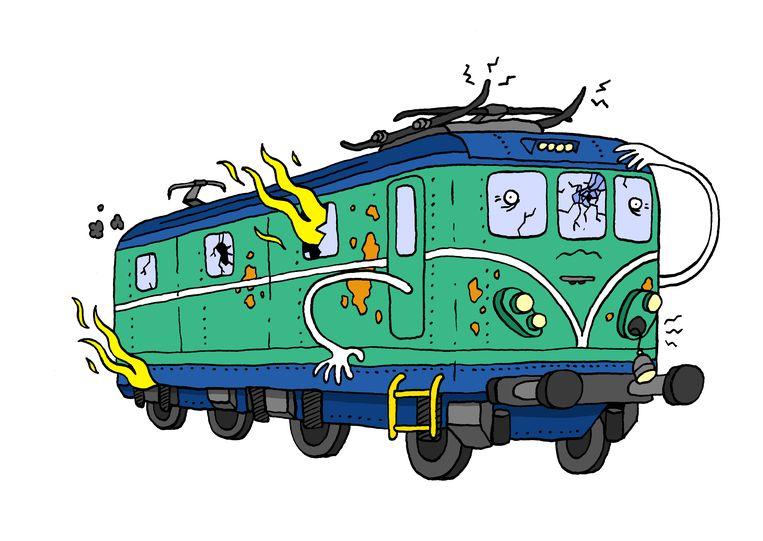 illustraties nmbs Beeld Sven Franzen