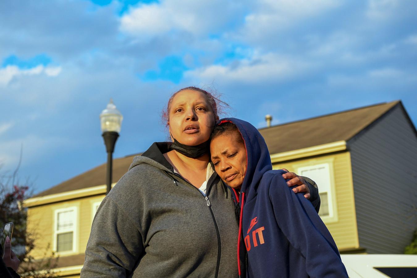 Hazel Bryant, de tante van de 15-jarige Makiyah, die door de politie werd doodgeschoten toen in Minneapolis het vonnis van ex-agent Derek Chauvin werd voorgelezen.