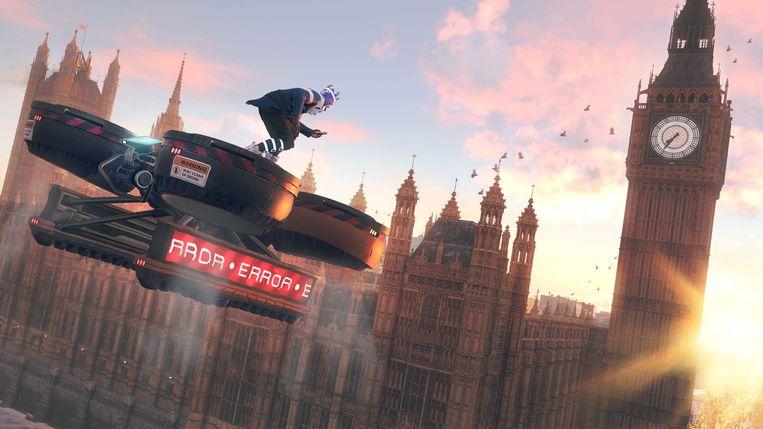 Londen is in Watch Dogs: Legion een vertrouwelijke setting in een pikdonkere toekomst. Beeld Ubisoft