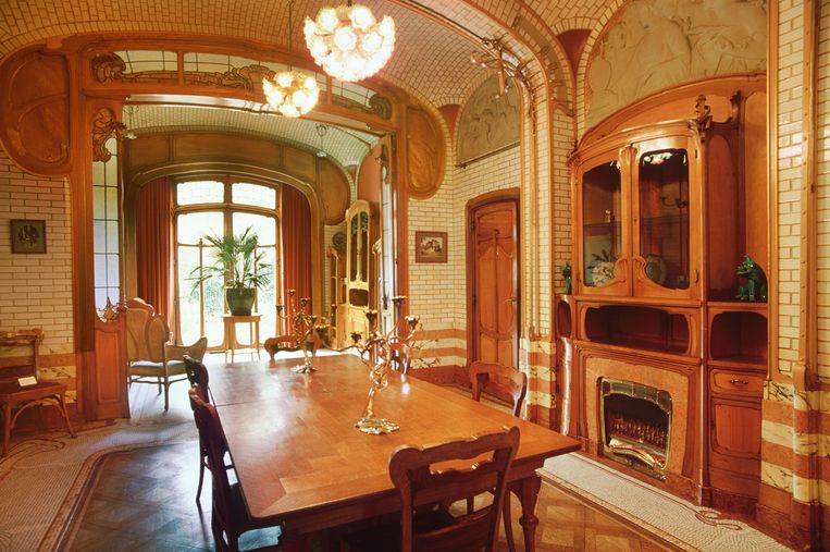 Interieu van Horta's atelierwoning in Sint-Gillis, nu een museum. Beeld Alamy Stock Photo