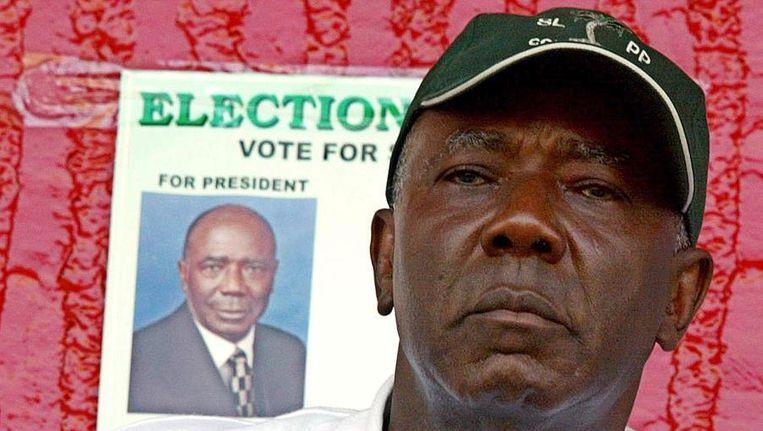 Oud-president Ahmed Tejan Kabbah. Beeld AFP