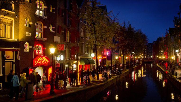 De Wallen in Amsterdam Beeld anp