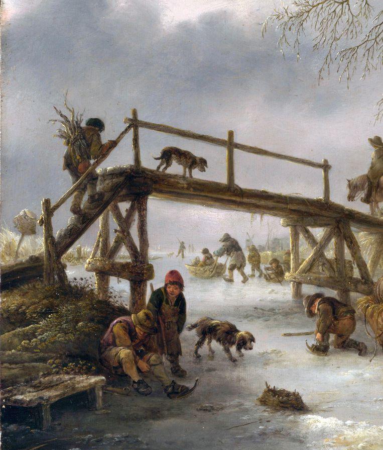 Isaac van Ostade, Wintervoorstelling, circa 1640, National Gallery Londen. Beeld The National Gallery