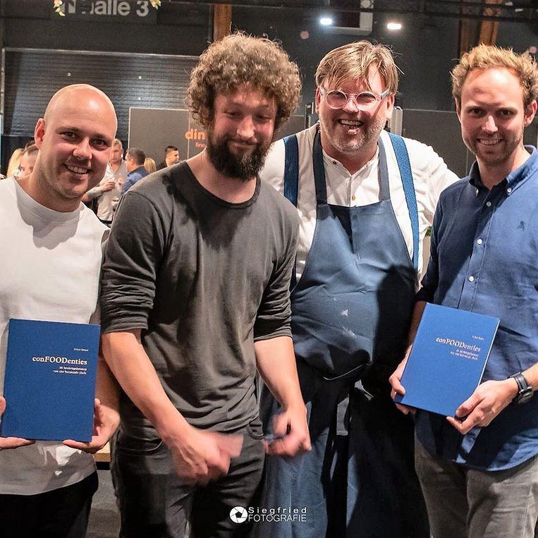 Martijn Defauw, Felix Francois, Dirkjan Decock en Matthias Speybrouck.