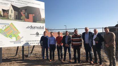 Bouw nieuwe verkaveling gestart  in centrum Zwevezele