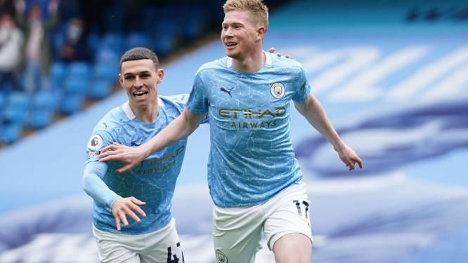 City geeft titel extra glans: De Bruyne scoort en geeft assist, Agüero neemt in stijl afscheid van Etihad