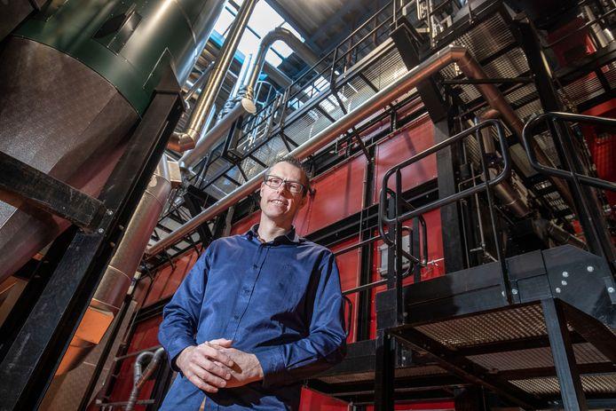 Christan van Kesteren van bio-energie centrale 'Bio-Energie Ede' aan de Geerweg.