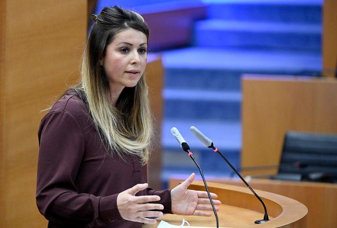 Brussels staatssecretaris voor Gelijke Kansen Nawal Ben Hamou (PS).