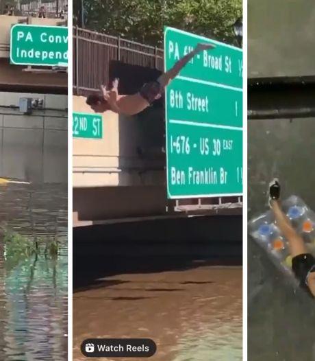 Les inondations à New York en trois scènes insolites