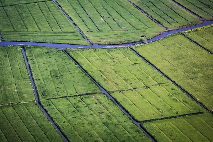 Luchtfoto Hoeksche Waards landschap
