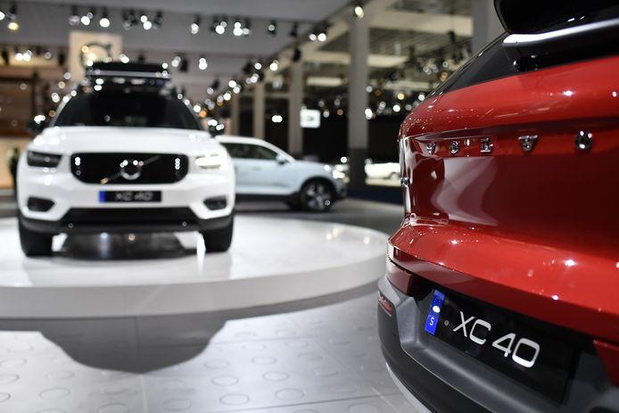 Volvwagens op het Autosalon in 2018.