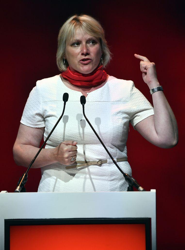 Miranda Ulens uit Sint-Truiden, de nieuwe algemeen secretaris van het ABVV. Beeld BELGA