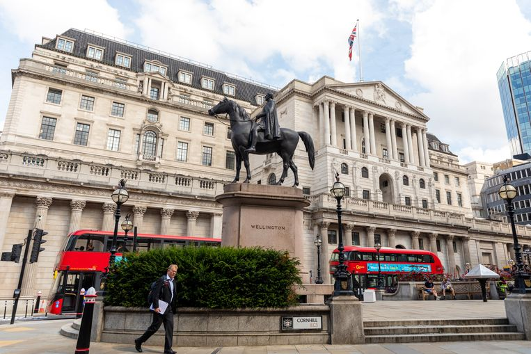 De Bank of England in Londen. Beeld EPA, Vickie Flores