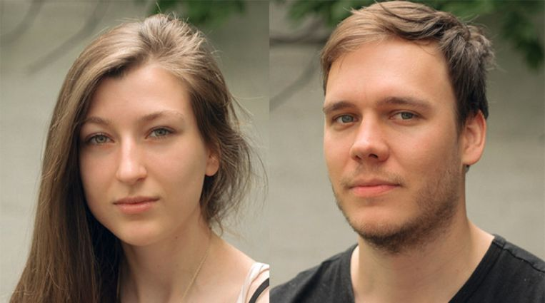 Regisseursduo Emma De Swaef en Marc James Roels. 'Het straffe is dat Emma en Marc nooit opgeven', zegt Ben. Beeld RV