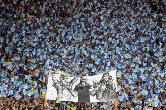 Supporters van Lazio Roma.
