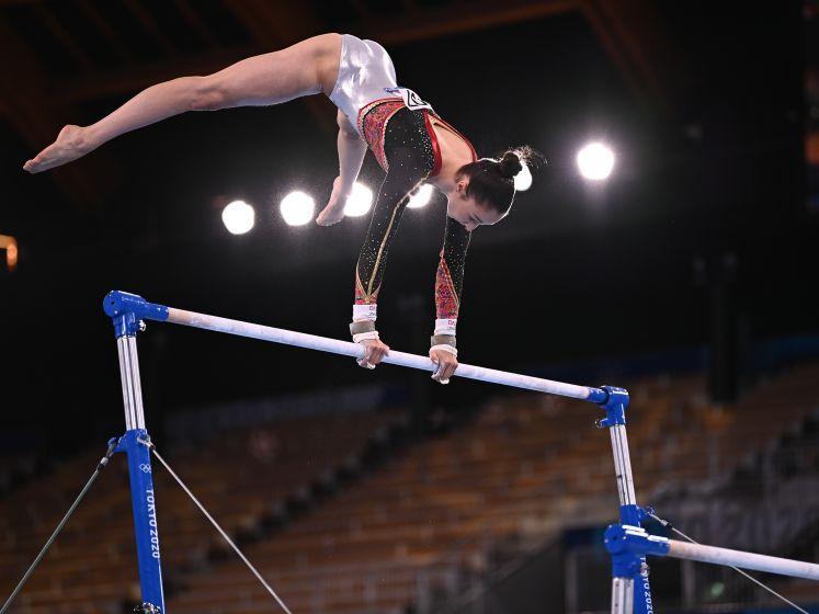 KIJK. Met deze oefening wint Nina Derwael olympisch goud