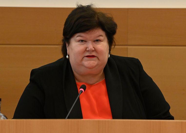Ex-minister van Volksgezondheid Maggie De Block (Open Vld). Beeld Photo News