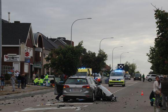 De motard raakte zwaargewond.
