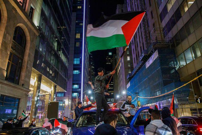 Des manifestations pro-palestiniennes s'étaient  déroulées samedi dans plusieurs villes canadiennes, dont Toronto (photo).