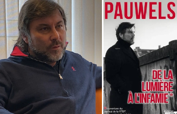 """Stéphane Pauwels évoque sa """"chute"""" dans un nouveau livre, De la lumière à l'infamie."""