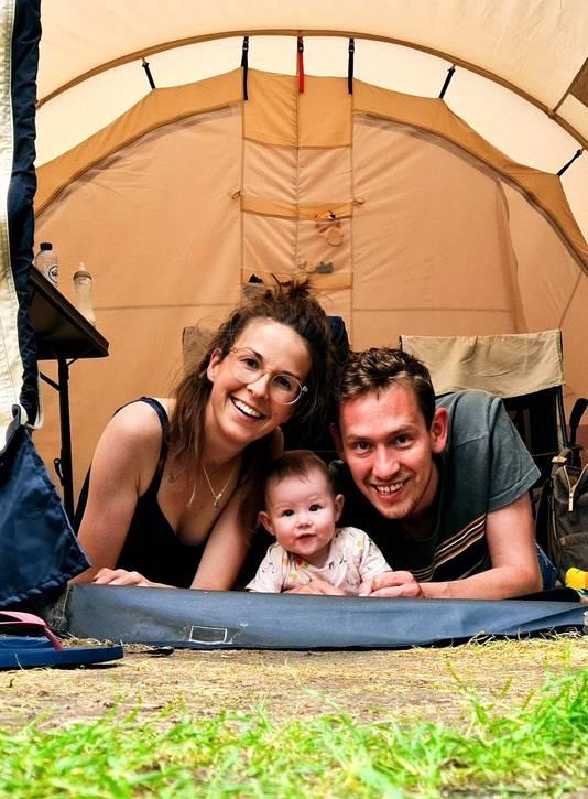 Susan, Nore en Joris op vakantie in Overijssel.