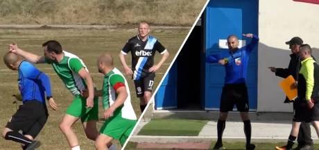 Bulgaarse arbiter moet na staken voetbalduel vluchten naar parkeerterrein