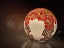 Karen Vande Casteele wil honderd ronde lampen beschilderen voor Covid-patiënten.