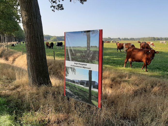 Een deel van het plangebied voor bedrijventerrein Wijkevoort, aangeduid door omwonenden die tegen zijn.