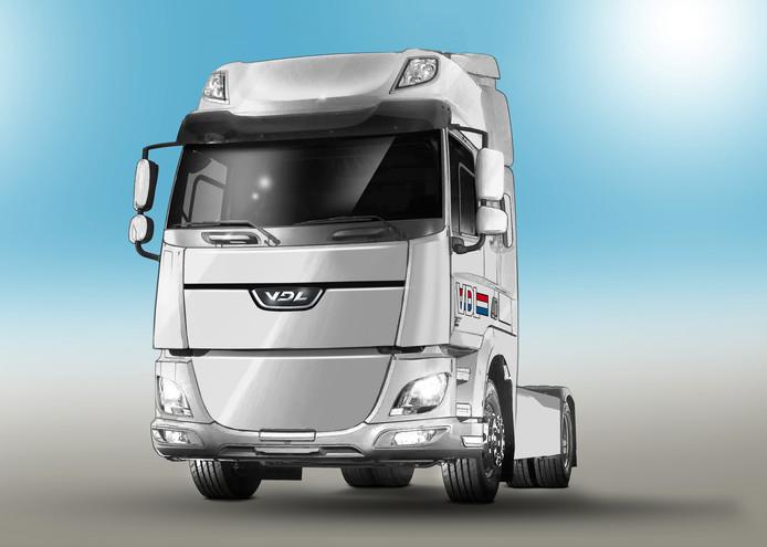 Concept van de elektrische truck van VDL.