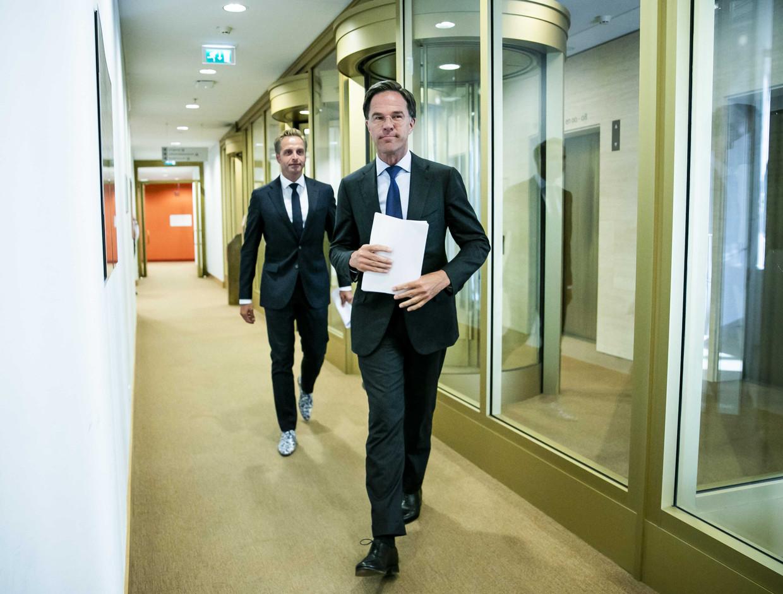 Premier Mark Rutte en minister Hugo de Jonge. Beeld ANP