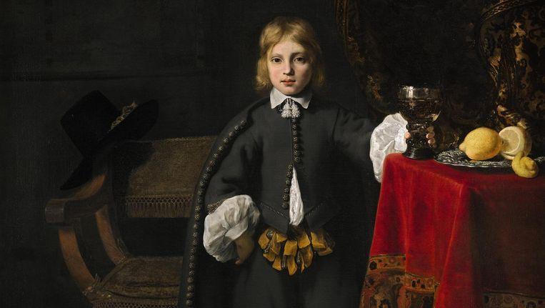 Jongensportret van Govert Flinck (157x150 cm), uit de National Gallery in Londen. Beeld -