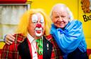 Bas en Aad van Toor, beter bekend als het populaire kinderduo Bassie & Adriaan.