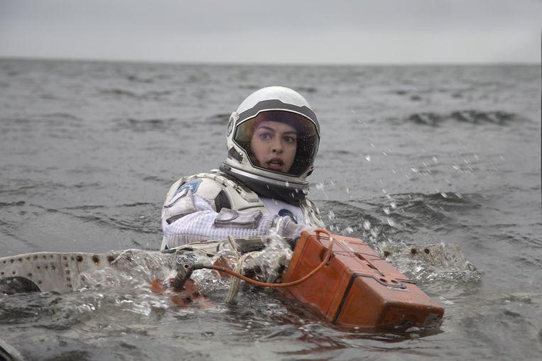 Astronaut Brand (Anne Hathaway) in de sciencefictionfilm Interstellar van Christopher Nolan. Beeld Melinda Sue Gordon