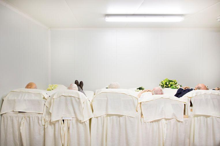 De koelruimte bij begrafenisondernemer Pues in Herent. Beeld ©Lieve Blancquaert