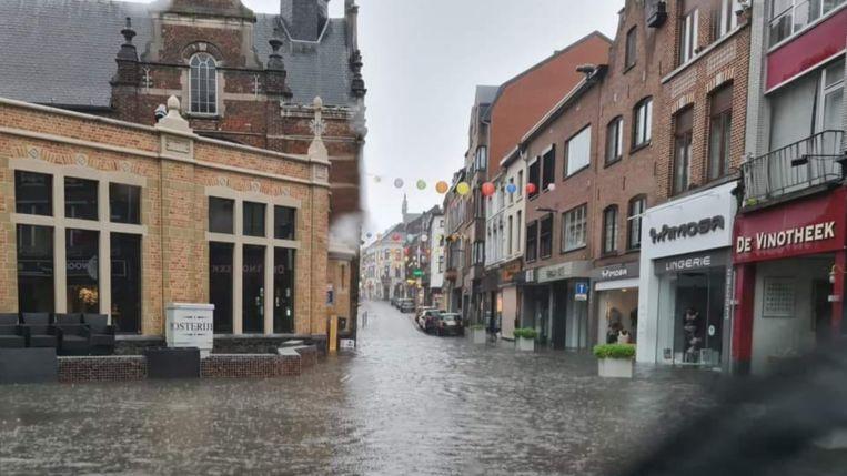 Wateroverlast in Sint-Truiden. Beeld RenoRest