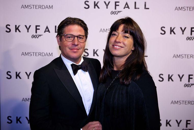 Presentator Martijn Krabbe en zijn vrouw Amanda. Beeld ANP Kippa