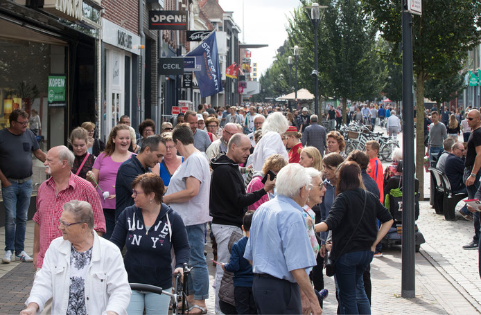 De eerste koopzondag ooit in Veenendaal op 18 september 2016.